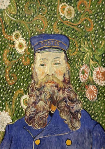 Van Gogh, Vincent: Portrait of the Postman Joseph Roulin, 1889. Fine Art Print/Poster. Sizes: A4/A3/A2/A1 (0089)